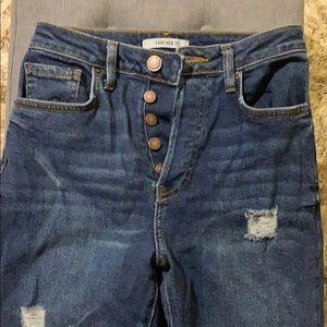 High Waist Forever 21 Skinny Jeans